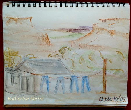 November 27 ~ Flashback Friday: 2009 Drawing of Brakeman's washline